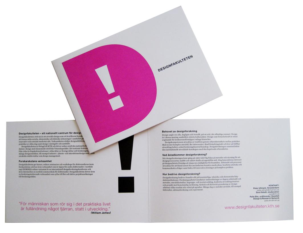 Designfakulteten, KTH, presentationsbroschyr