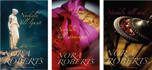Bokomslag A Bonniers förlag trilogi Nora Roberts